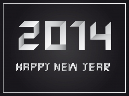 Happy new year 2014  Illustration