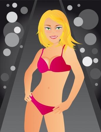 Beautiful girl in bikini Stock Vector - 18502538