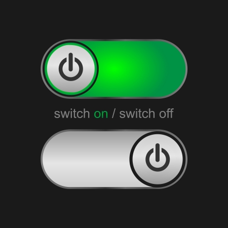 on off switch buttons Stock Vector - 18502534