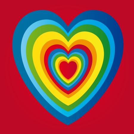 Vector Valentines day heart Illustration