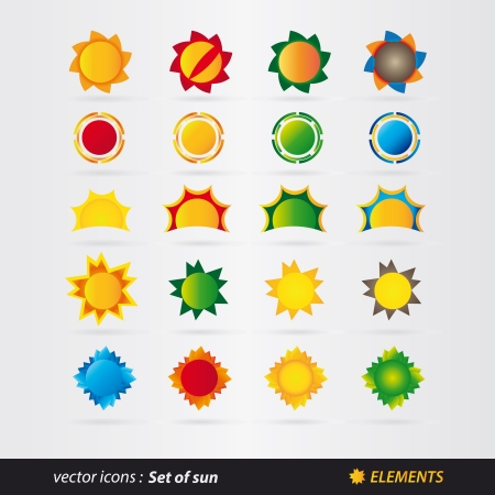set of sun  Stock Vector - 18524342