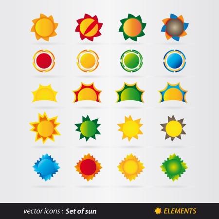 set of sun Stock Vector - 18524342