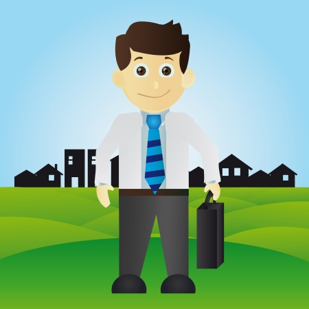salary man: Happy Businessman
