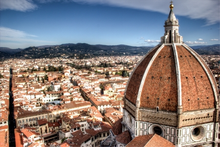 panoramic view of Duomo in Florence