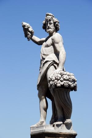 Florence - satue on the bridge ponte santa Trinita