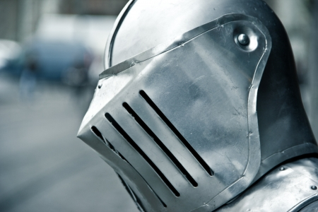Close helmet - medieval Stock Photo