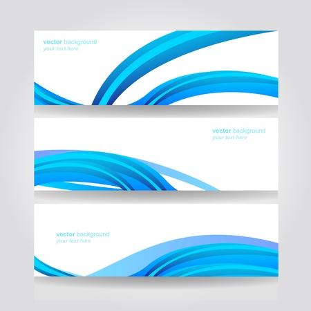 Abstract header blue wave  design Stock Vector - 18688912