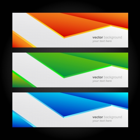 Collection banners modern, colorful background. Stock Vector - 18688911