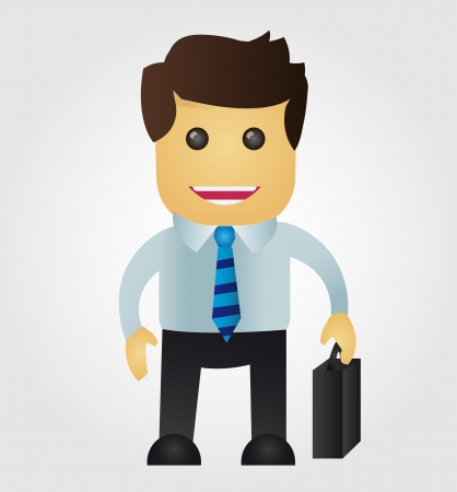 sales manager: Business man cartoon Illustration