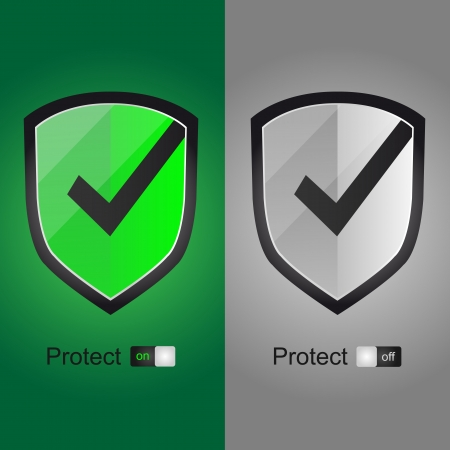 accepter: Accepter Green Shield icon - on off