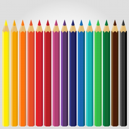 Colored Pencils Stock Vector - 18755804