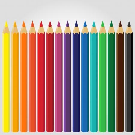Colored Pencils Stock Vector - 18755804