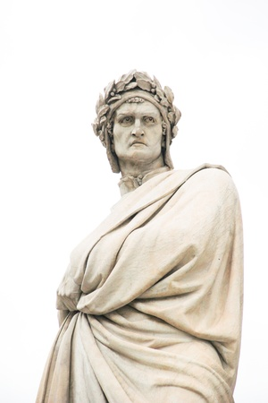 statue of Dante Alighieri in Florence, Italy Stock Photo