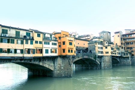 florence italy: Ponte Vecchio bridge in Florence, Italy