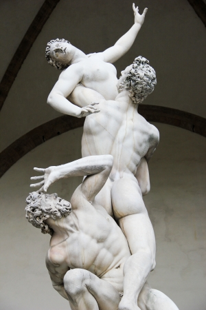 Ratto Delle Sabine. Florence. Italy.