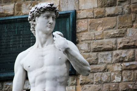 The statue of David by Michelangelo Stock Photo