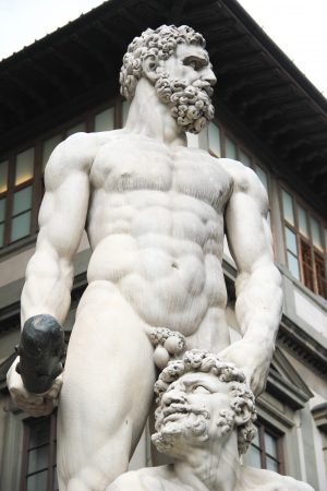 chiseled: Hercule and Cacus in Florence, Italy