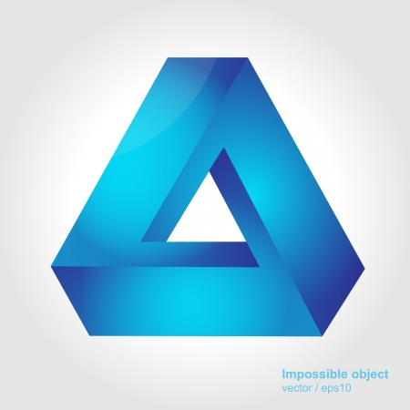 Abstract symbol, impossible object, triangle Vector