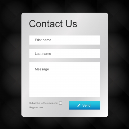website window: Vector contacts form