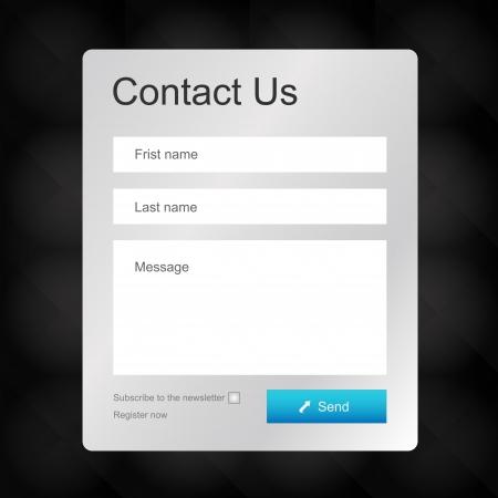 iletişim: Vektör iletişim formu