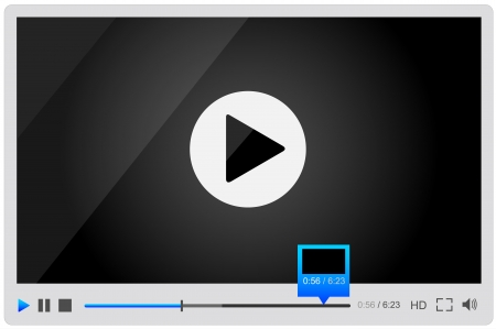 preview: Video player for web, minimalistic design