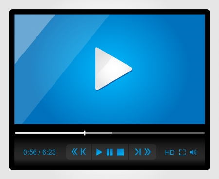 Video player for web, minimalistic design Stock Vector - 19370058
