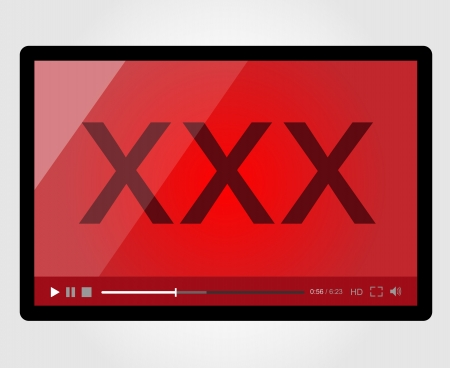 Video player for web, XXX Adult Stock Vector - 19730542
