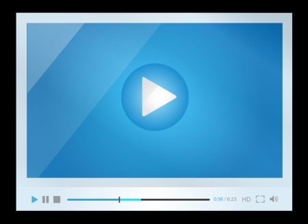 Video player for web, minimalistic design