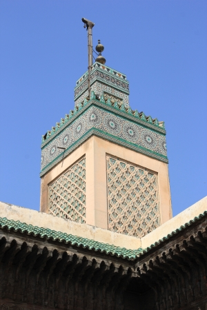 fez: Mosque in old Medina of Fes, Morocco