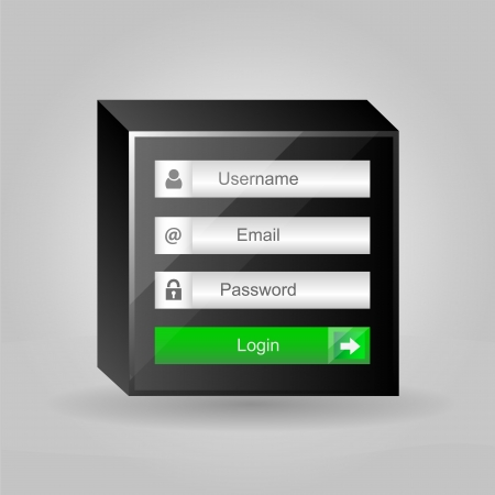 username: Vector login interface - username and password Illustration