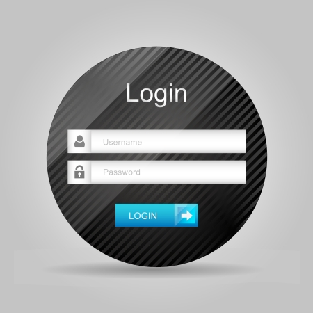 Vector login interface - username and password Vector