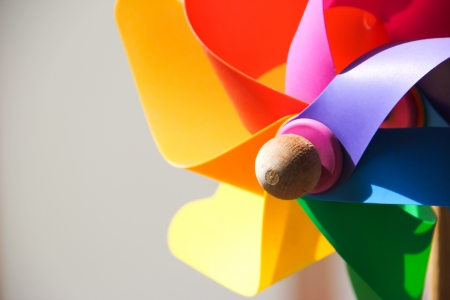 Close up of Colorful pinwheel  photo