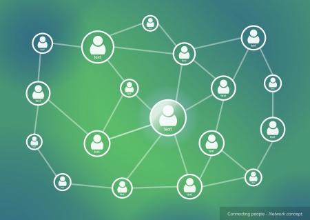 and people: Conectar a las personas - concepto de red