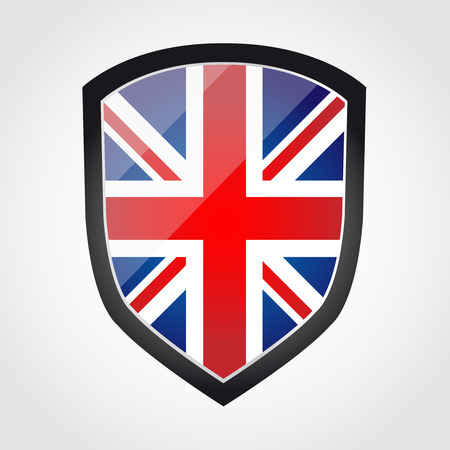 military press: Shield with flag inside - United Kingdom - UK