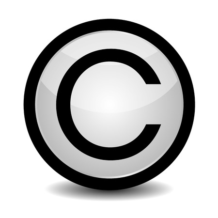 vitamin c: Copyright button - icon