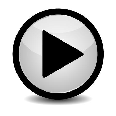 Play button - vector