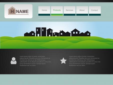 web site design template: Vector House  Web site design template