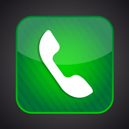 Phone icon - green app button Illustration