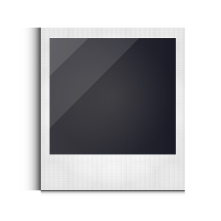 polaroid: Polaroid photo frame isolated on white background