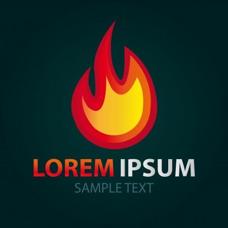 Logo Fire, abstract icon