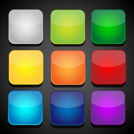 Ensemble de couleur icônes des applications - fond Banque d'images - 24527832