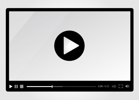 windows media video: Video player for web, minimalistic design