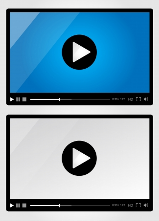 Video player for web - Set Illustration