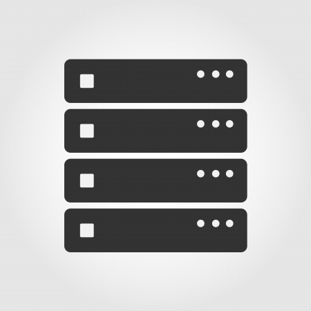 hardware icon: Computer Server icon, flat design
