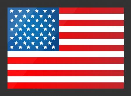 flags usa: United States Flag  Vector illustration