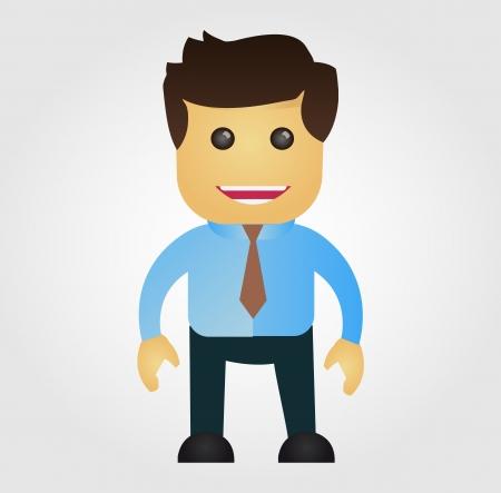 Business man cartoon, vector illustration
