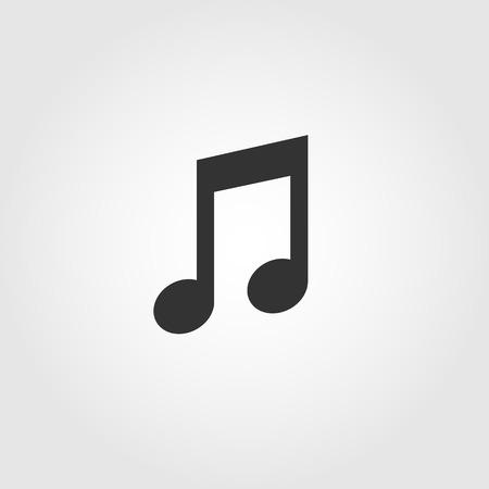 Music note icon, flat design Ilustrace