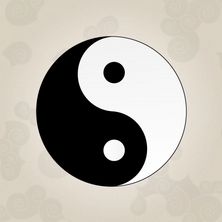 yan yang: Ying Yang, japanese tattoo Illustration