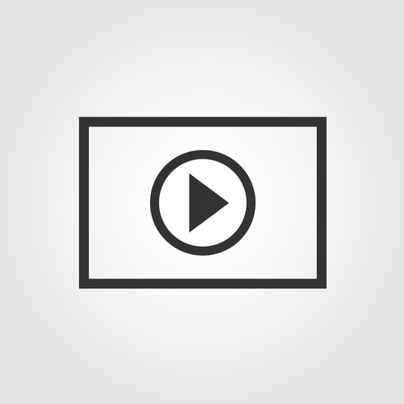 Vector eps10  Video player icon, flat design Illustration