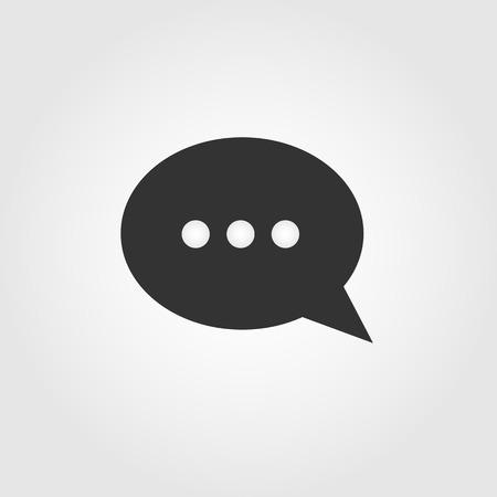 chat bubble: Chat bubble icon, flat design